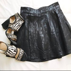 Black Faux Leather Skirt🎀